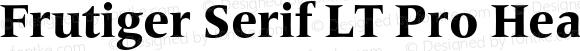 Frutiger Serif LT Pro Heavy