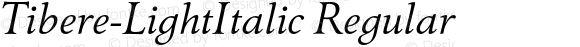 Tibere-LightItalic Regular 004.460