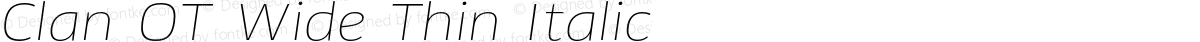 Clan OT Wide Thin Italic