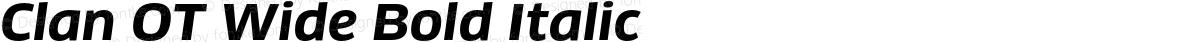 Clan OT Wide Bold Italic