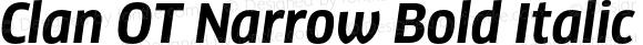 Clan OT Narrow Bold Italic