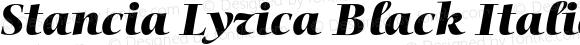 Stancia Lyrica Black Italic Version 001.001