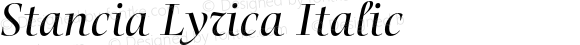 Stancia Lyrica Italic Version 001.001