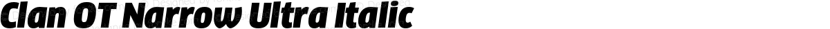 Clan OT Narrow Ultra Italic