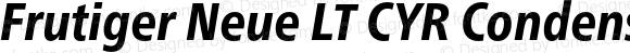 Frutiger Neue LT CYR Condensed Heavy Italic