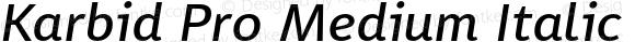 Karbid Pro Medium Italic