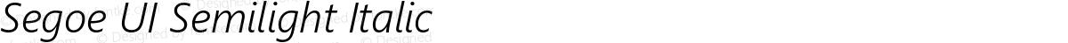 Segoe UI Semilight Italic