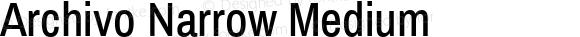Archivo Narrow Medium