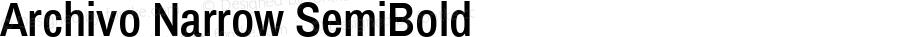 Archivo Narrow SemiBold Version 1.010