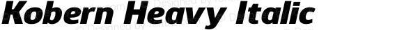 Kobern Heavy Italic