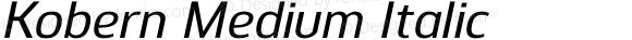 Kobern Medium Italic