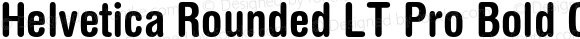 Helvetica Rounded LT Pro Bold Condensed