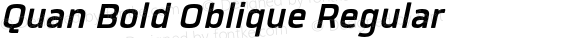 Quan Bold Oblique Regular