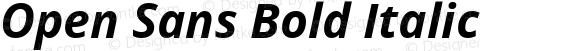Open Sans Bold Italic