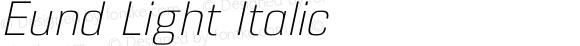 Eund Light Italic