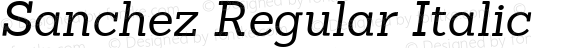 Sanchez Regular Italic