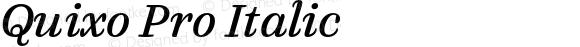 Quixo Pro Italic