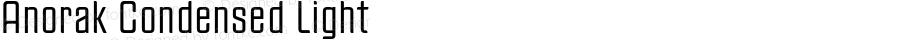 Anorak Condensed Light Version 1.000;PS 1.10;hotconv 1.0.38
