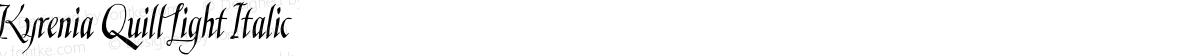 Kyrenia Quill Light Italic