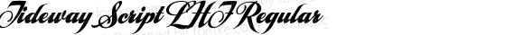 Tideway Script LHF Regular Version 002.001E