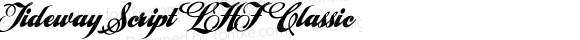 Tideway Script LHF Classic Version 002.001E