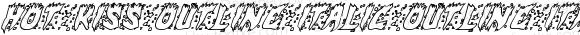 Hot Kiss Outline Italic Outline Italic