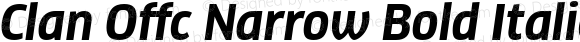 Clan Offc Narrow Bold Italic