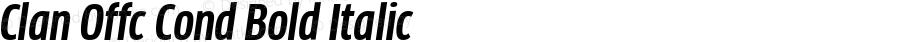 Clan Offc Cond Bold Italic Version 7.504; 2010; Build 1020
