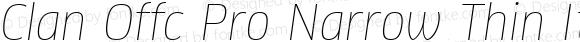 Clan Offc Pro Narrow Thin Italic