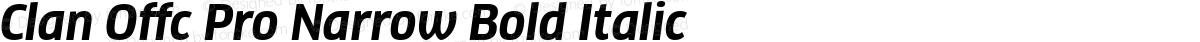 Clan Offc Pro Narrow Bold Italic