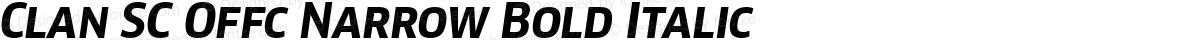 Clan SC Offc Narrow Bold Italic
