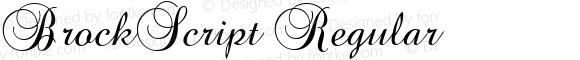 BrockScript Regular Macromedia Fontographer 4.1 04/08/96