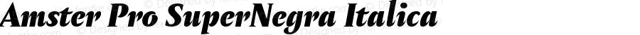 Amster Pro SuperNegra Italica Version 1.000;PS 001.000;hotconv 1.0.70;makeotf.lib2.5.58329