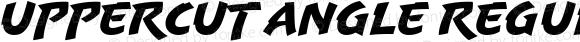 Uppercut Angle Regular Version 1.000;com.myfonts.easy.delve.uppercut-angle.regular.wfkit2.version.3CW1