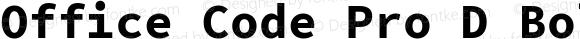 Office Code Pro D Bold Version 1.004