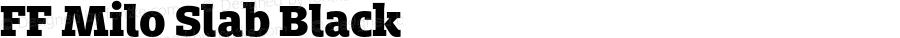 FF Milo Slab Black Version 7.504; 2014; Build 1020