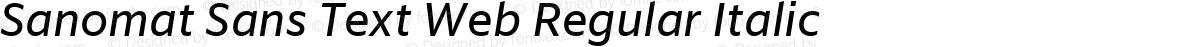 Sanomat Sans Text Web Regular Italic