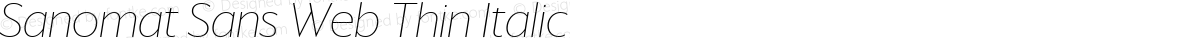 Sanomat Sans Web Thin Italic
