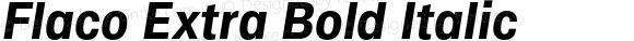 Flaco Extra Bold Italic