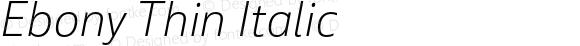 Ebony Thin Italic
