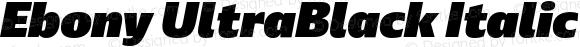 Ebony UltraBlack Italic