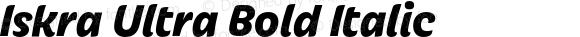 Iskra Ultra Bold Italic