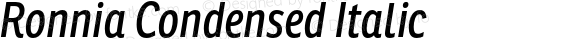 Ronnia Condensed Italic
