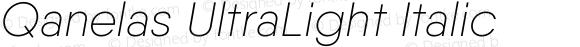 Qanelas UltraLight Italic
