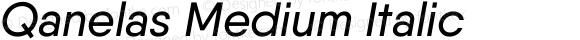 Qanelas Medium Italic