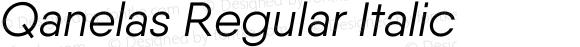 Qanelas Regular Italic