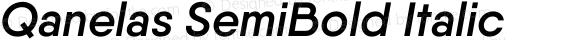 Qanelas SemiBold Italic