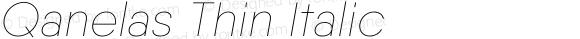 Qanelas Thin Italic