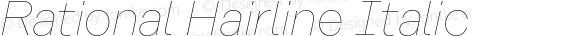 Rational Hairline Italic