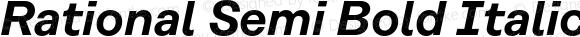 Rational Semi Bold Italic